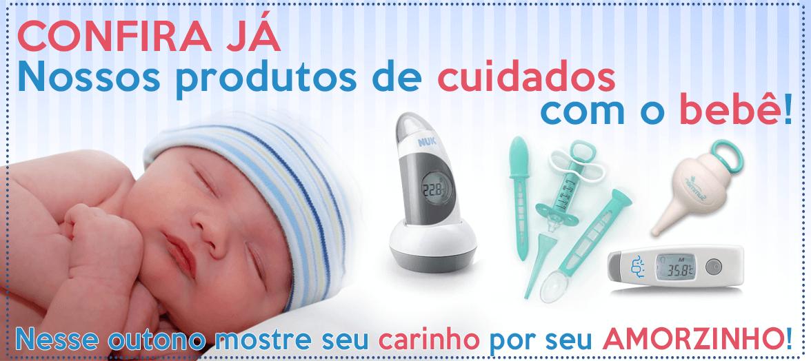 Produtos para cuidar do seu bebê em caso de gripe ou resfriado