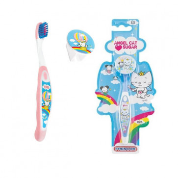 Escova Dental Infantil Com Capa Angel Cat Sugar