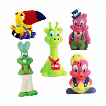 Kit brinquedos em látex anima toys