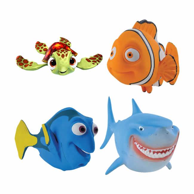 Kit 4 Bonecos Látex Procurando Nemo - Latoy