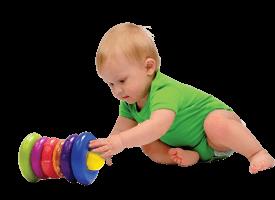 Brinquedos divertidos para o bebê